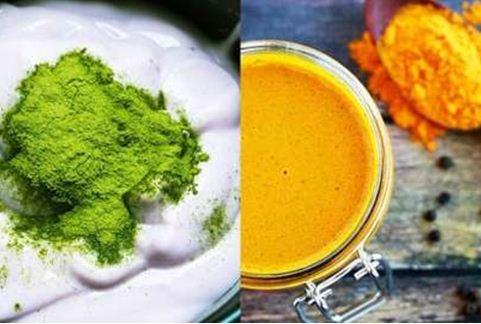 Công thức 4: Mặt nạ tinh bột nghệ kết hợp với bột trà xanh