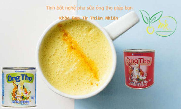 tinh-bot-nghe-pha-sua-ong-tho-co-tac-dung-gi
